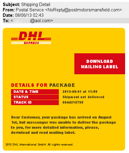 Dhl courier canada phone number