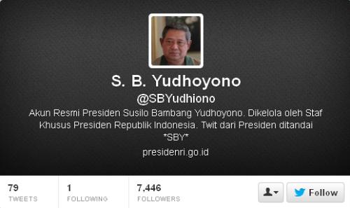 Twitter S. B. Yudhoyono SBYudhiono