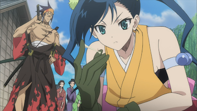Zdjęcia z anime Mushibugyō.