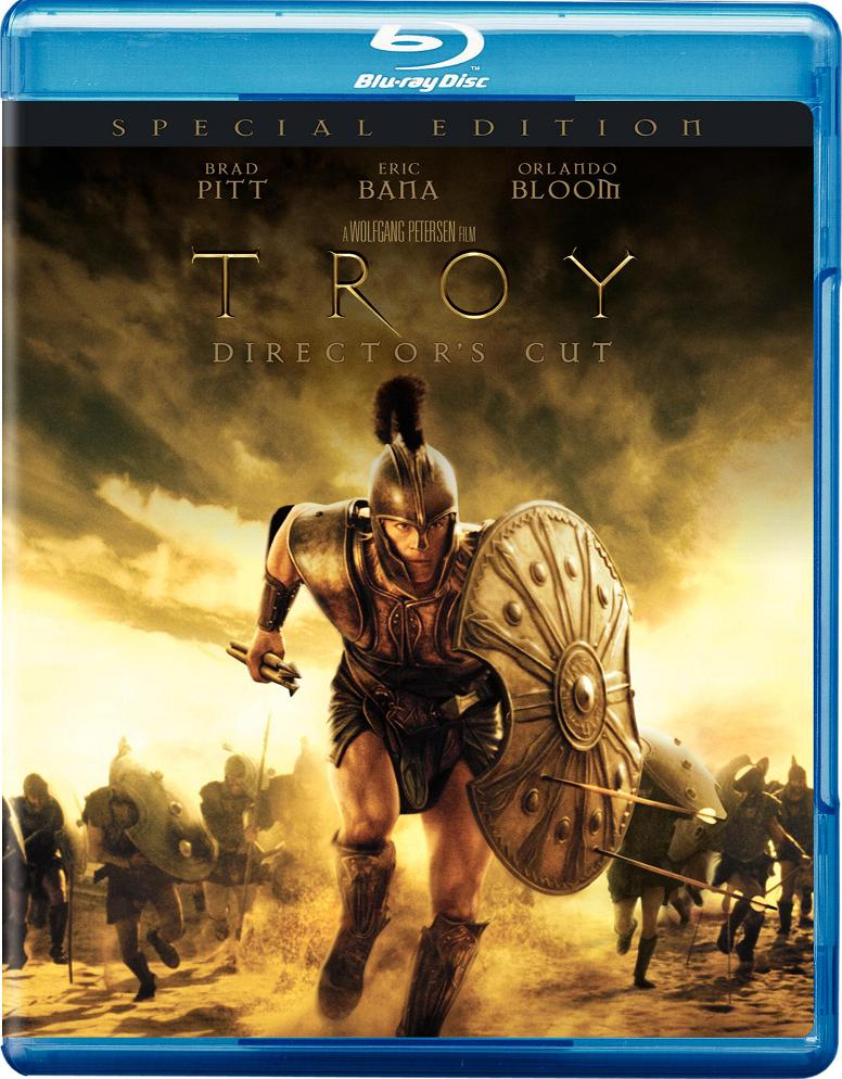 Troy Blu-ray Dvd Case Box