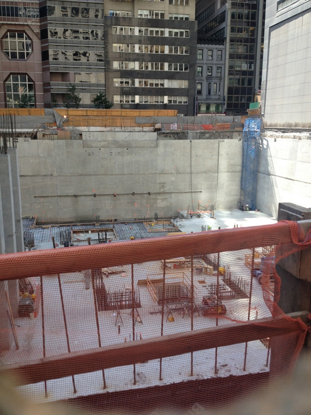 Photo of 432 park avenue foundations as seen from the 57th street