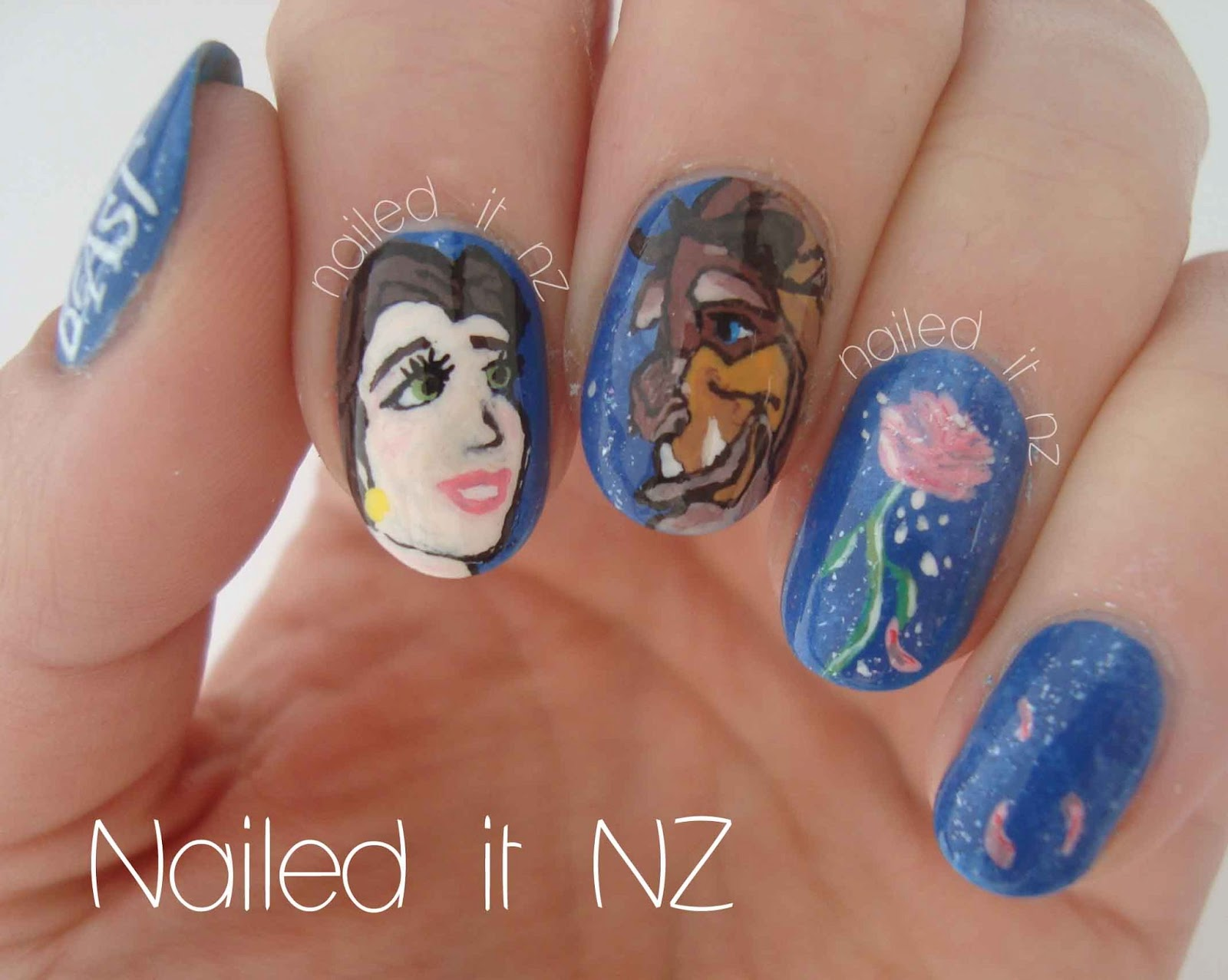 Disney Nail Art 2 Beauty And The Beast
