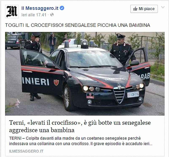 A polícia italiana está sendo convocada com crescente frequência para intervir nos atritos religiosos provocados por imigrantes islâmicos.