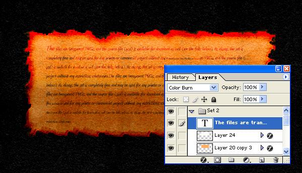 Parchment Paper Image Final Image Burnt Parchment