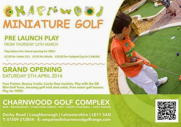 Charnwood Miniature Golf course at Charnwood Golf Centre