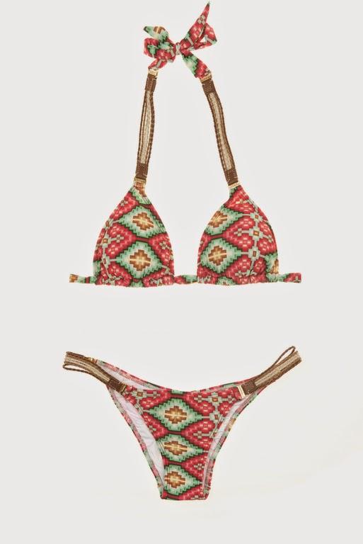 Cia Maritima Maia Tri Bikini avec attaches sur les côtés
