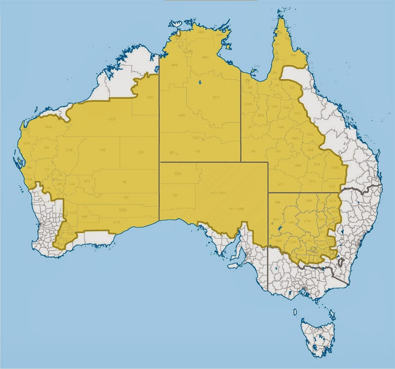 40 Maps That Will Help You Make Sense of the World - Where 2% of Australia's Population Lives
