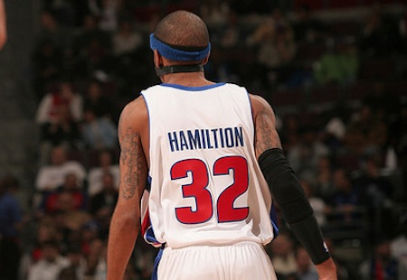 Richard Hamilton Misspelled Jersey : Rip Hamiltion!