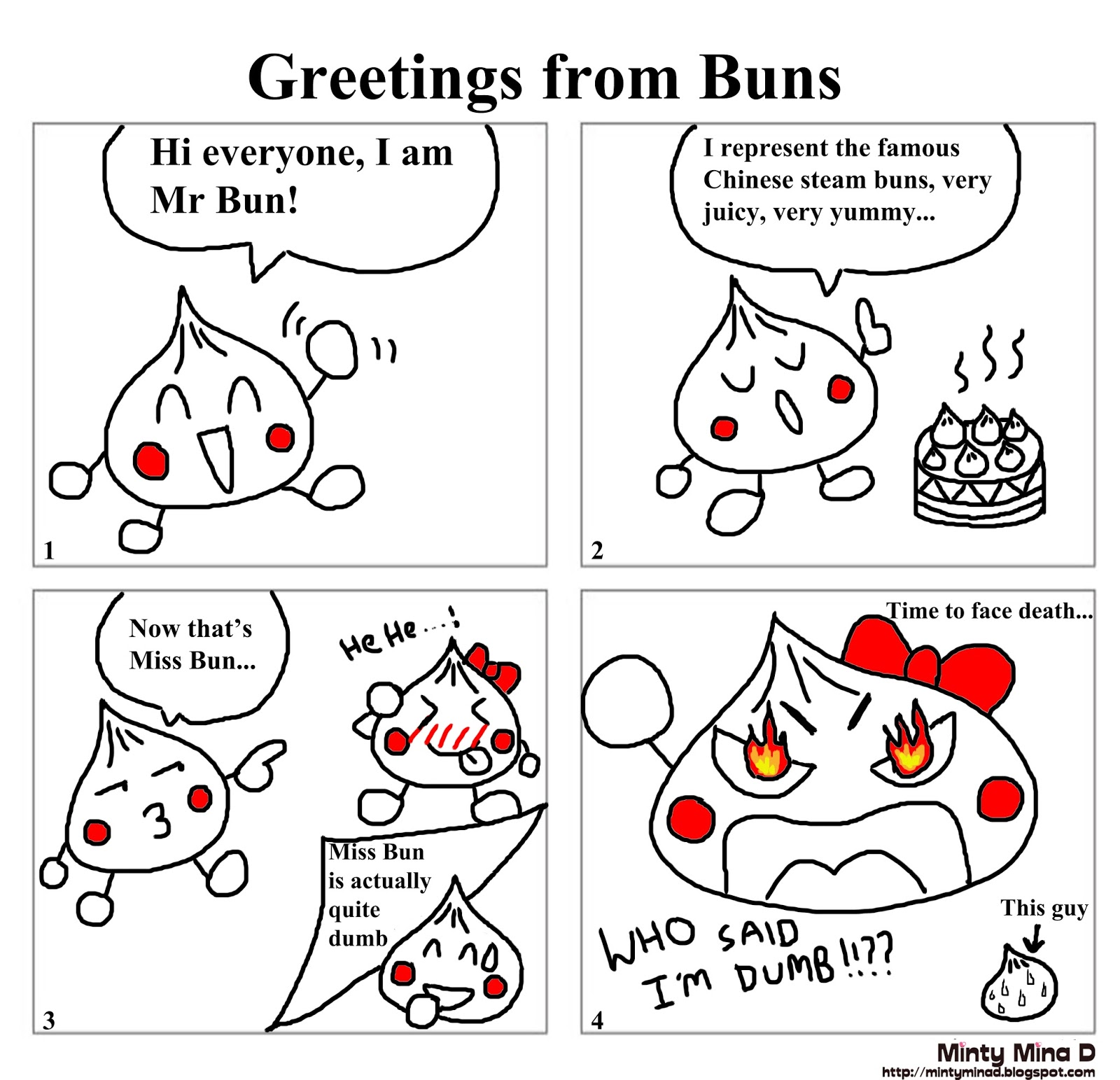 "Check out my ""Bun comic"" series below:"