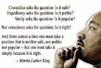 Conscience asks the Question: Is it right ?