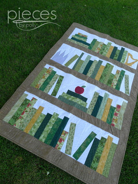 Pieces By Polly Teacher S Retirement Book Quilt Amp A Giveaway