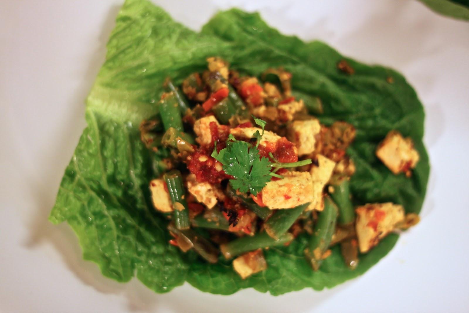 Jenessa's Dinners: Spicy Tofu Lettuce Wraps