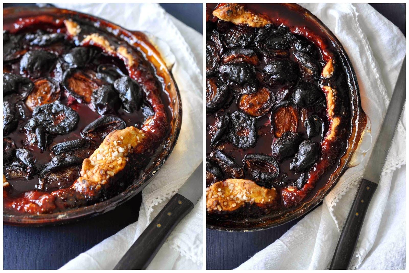 Backen Tarte Pie Prunes Pflaumen Rotwein Kuchen Einfach Rezept Martha Stewart
