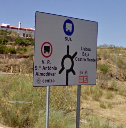 Primeira saída para que vem da Mina de São Domingos ou ultima saída para que vem de Beja, Lisboa ao Castro Verde