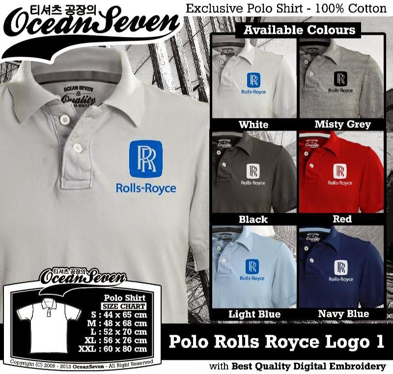 Kaos Polo Rolls Royce Logo 1