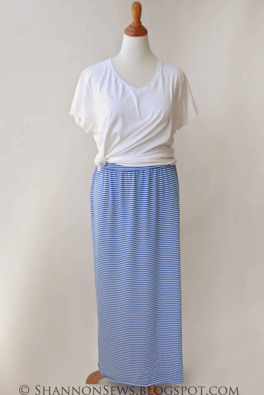 sew a long skirt flowy for summer, jersey knit