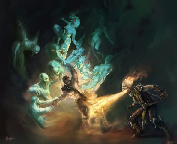 Hunter Schulz arte conceitual video game mortal kombat dc universe ilustrações
