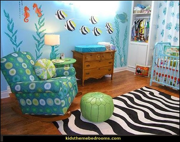 ocean themed baby bedroom decorating ideas and under the sea themed