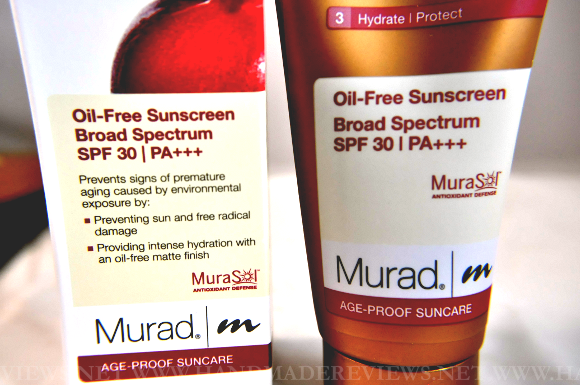 Murad Oil-Free Sunscreen Broad Spectrum SPF 30 Review