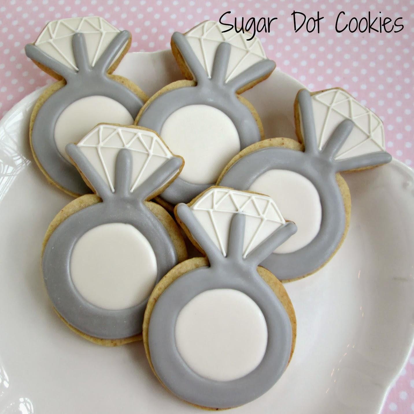Sugar Dot Cookies: Engagement Ring Cookies