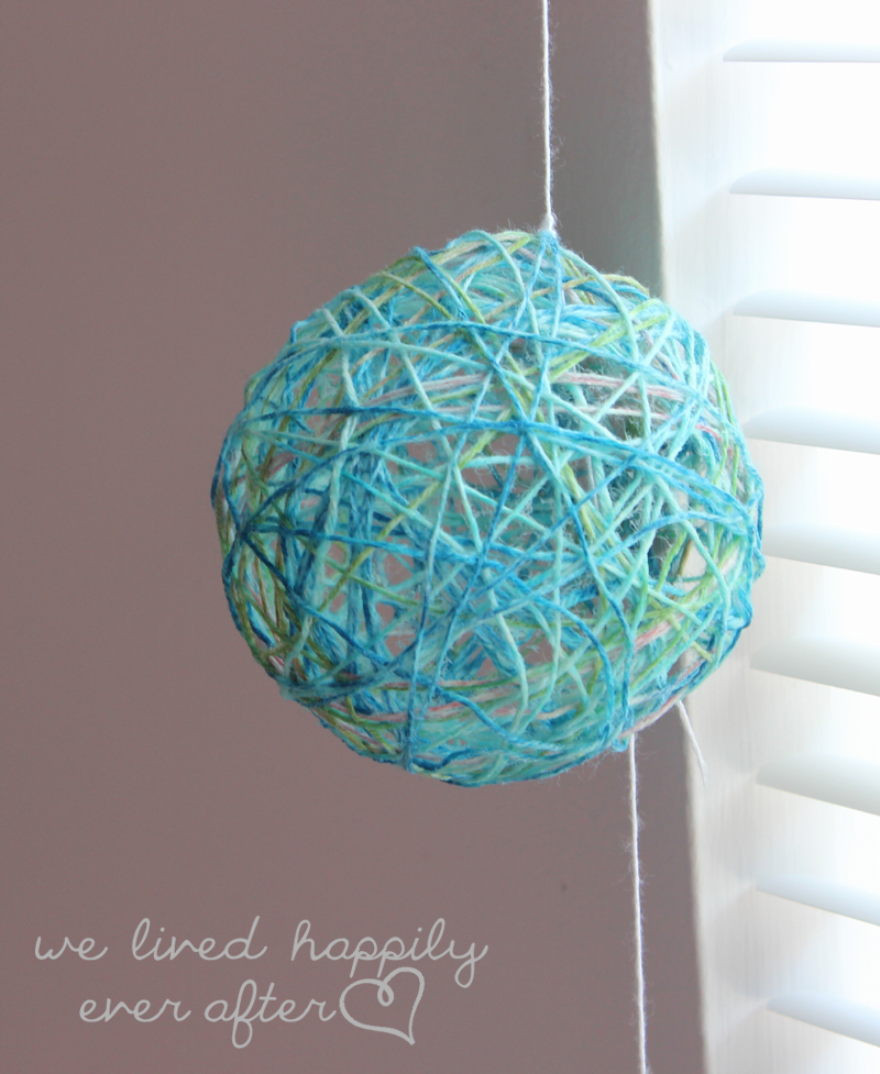 string ball light, great colors DIY Lighting Pinterest