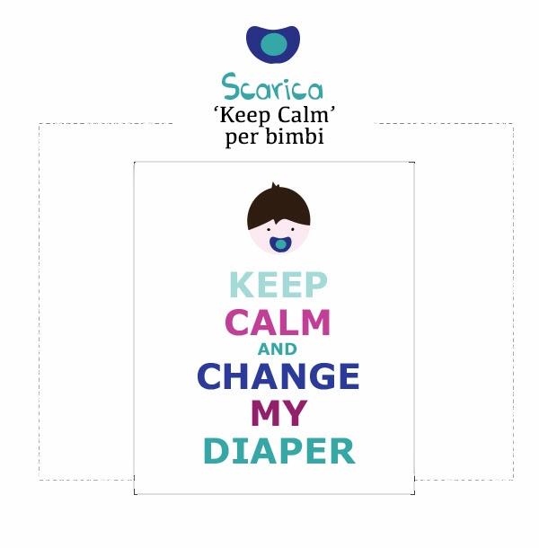 scarica stampa keep calm per bambini