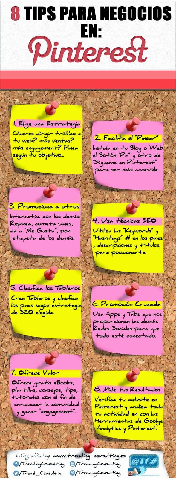 8 Tips para Negocios en Pinterest