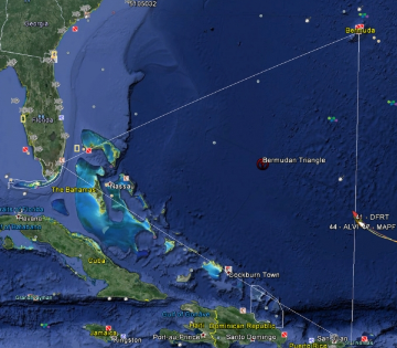 VOR Fleet enters Bermuda Triangle