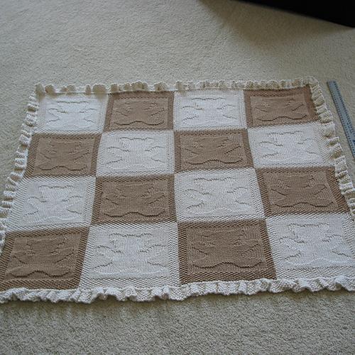 Daily Knitting Patterns Teddy Bear Baby Blanket
