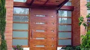 Fotos de puertas puertas de acceso modernas for Puertas principales modernas en madera