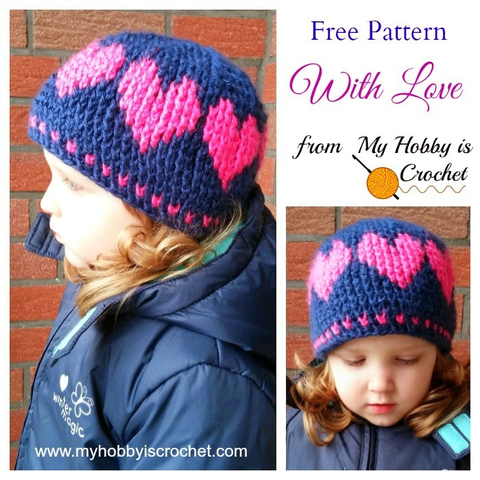 Free Crochet Heart Hat Pattern : My Hobby Is Crochet: A Hat With Love Free Crochet ...