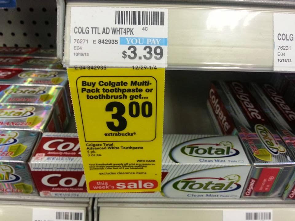 Cvs Deals Colgate Total Advanced Toothpaste 39 Cents Per