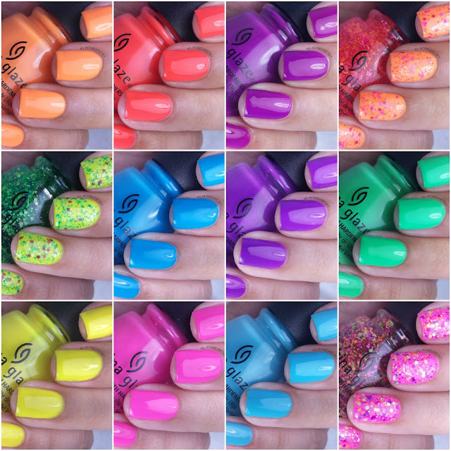 China Glaze Electric Summer Swatches & Review