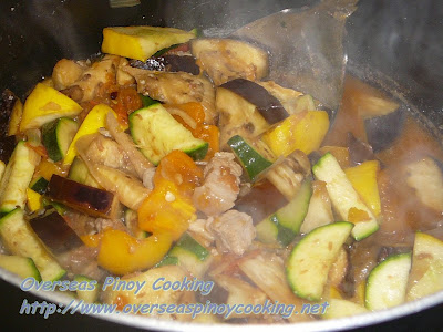 Pinakbet, Overseas Pinoy Version - Cooking Procedure