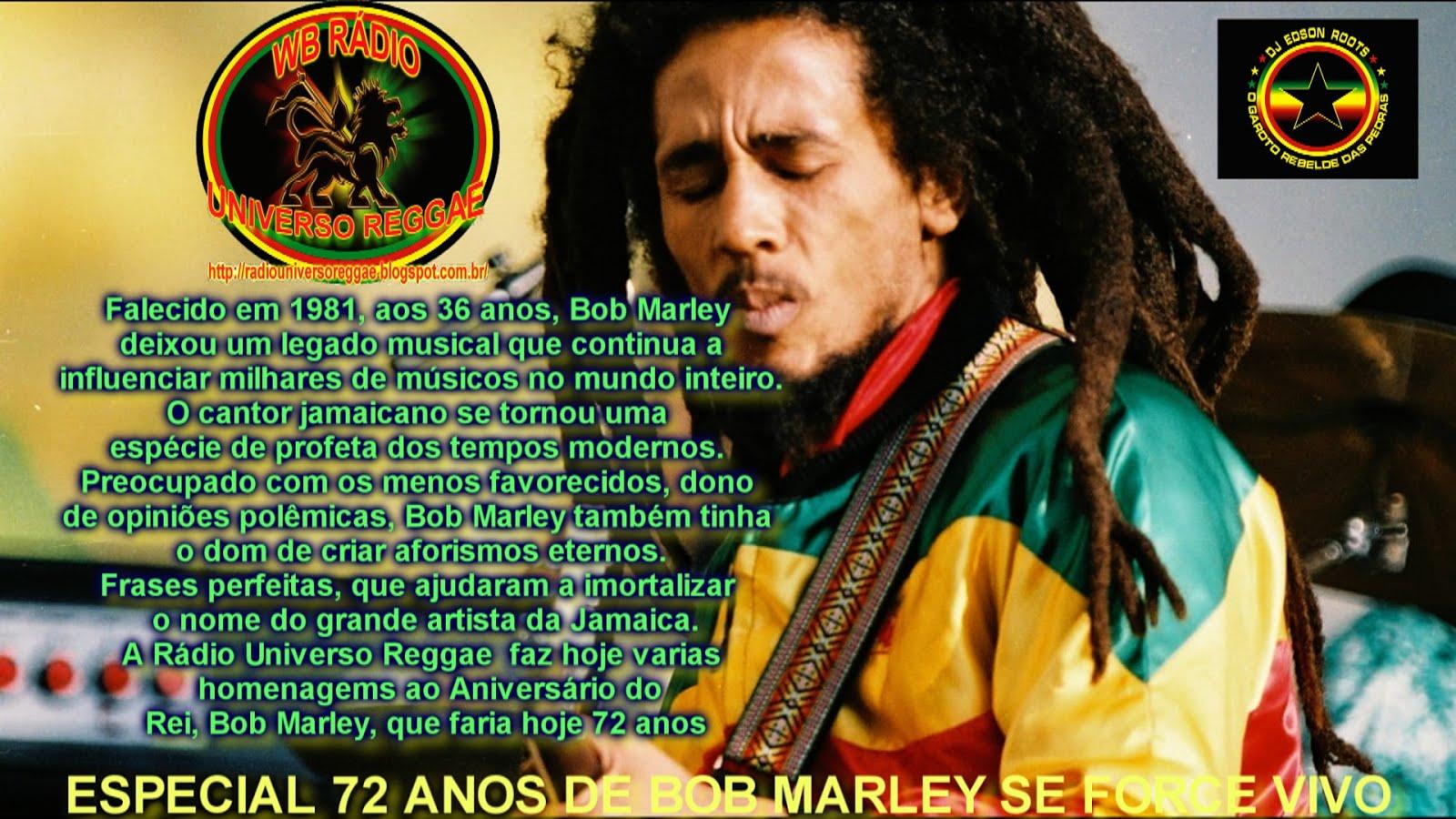 Homenagemsao Aniversário do Rei, Bob Marley