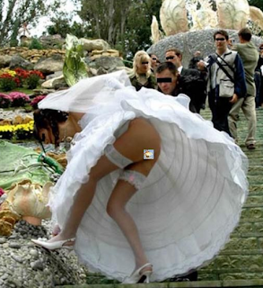 funniest pictures: bride accidentally show her cunt