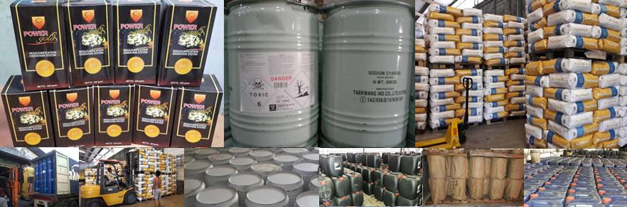 Distributor Bahan Kimia Pertambangan Emas Air Raksa Nitric Acid Sodium Sianida Karbon Platinum DLL.