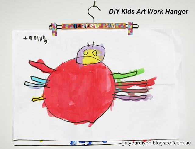 DIY Kids Art Work Hanger http://getyourdiyon.blogspot.com.au/#