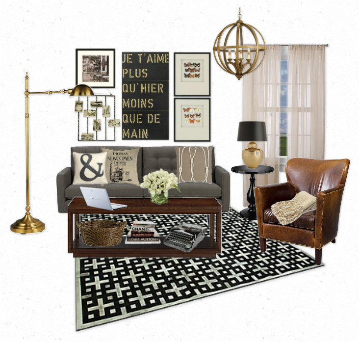 The lovely side neutral industrial chic fashion for Industrial chic living room