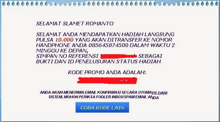 pulsa gratis 2014 mentos indonesia