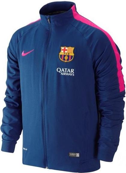 2014-2015 Barcelona Nike Little Boys Tracksuit (Royal Blue) Pink