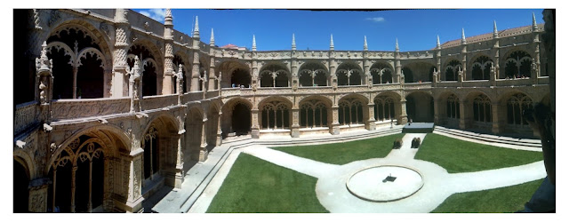 Courtyard of the Monastery of Jeronimos, Belem Lisbon