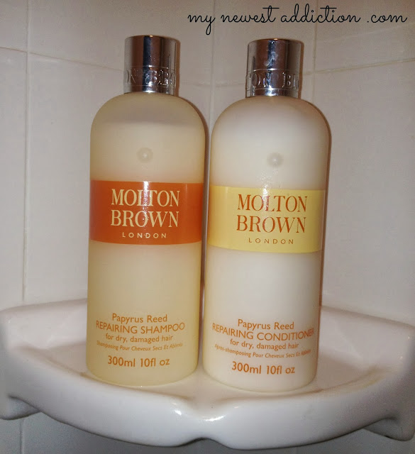 molton brown london papyrus reed repairing shampoo and conditioner my newest addiction. Black Bedroom Furniture Sets. Home Design Ideas