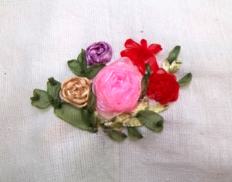 Flower ribbon embroidery nimble fingers zone