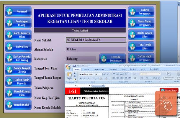 Aplikasi Pembuatan Administrasi Ujian Sekolah Ulangan Harian, UKK, US dan UNAS dengan Microsoft Excel. Download File Format xlsx.