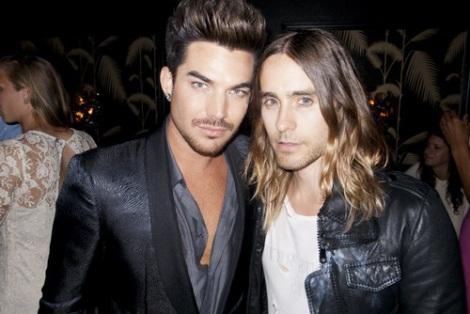Adam Lambert and Jared Leto at MTV VMA's 2013