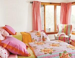 diseño dormitorio colorido