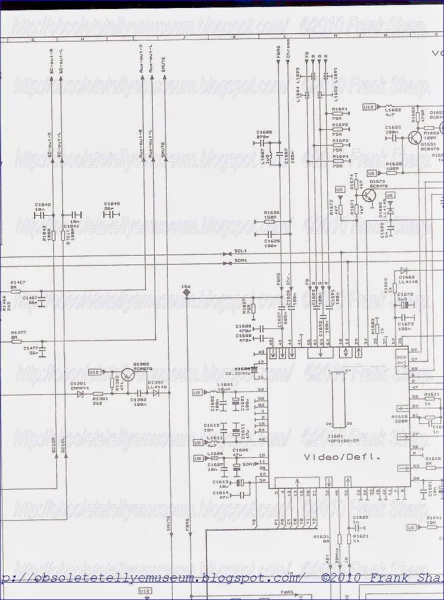 obsolete technology tellye    loewe ct1170  art no 57410l  chassis e3000  110e30  internal view