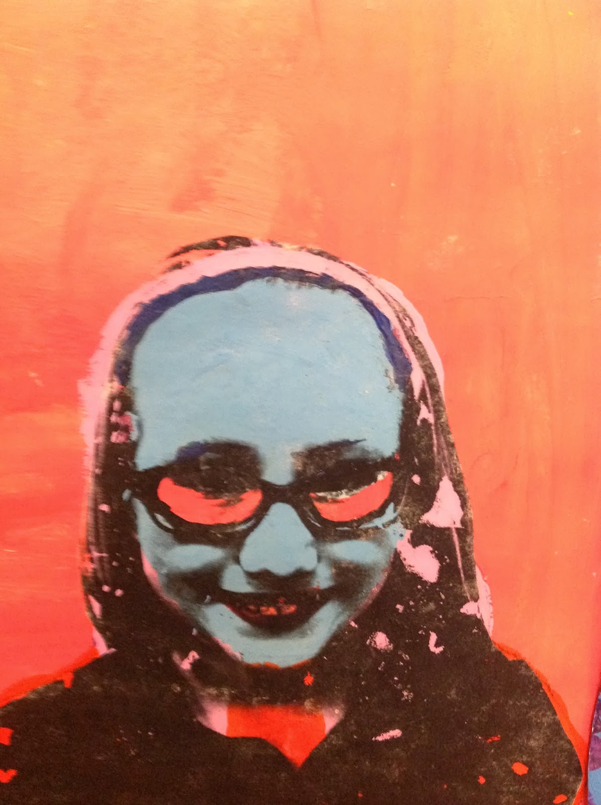 6th Grade Pop Art Portrait Inspired by Andy Warhol