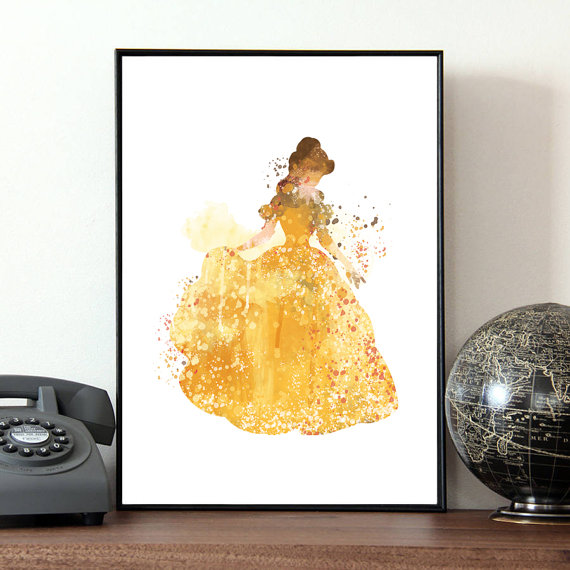 Disney Belle watercolor